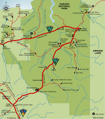 Kakadu National Park, Australia Map