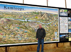 Kamloops tourist info map by Jean-Louis Rheault