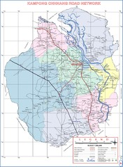 Cambodian National Road Map also Index to Provience Road Maps