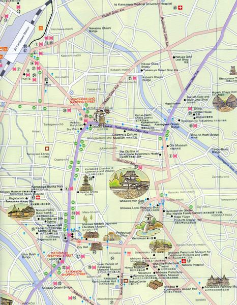 Kanazawa Tourist Map Kanazawa mappery