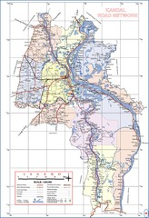 Kandal Province Cambodia Road Map