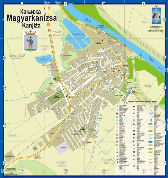 Kanizsa City Map