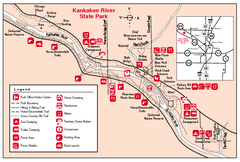 Kankakee River State Park, Illinois Site Map