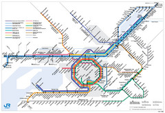 Kansai Regional Subway Map