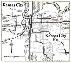 Kansas City The Automobile Blue Book 1920 Map