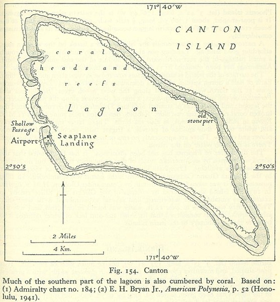 Kanton atoll Map