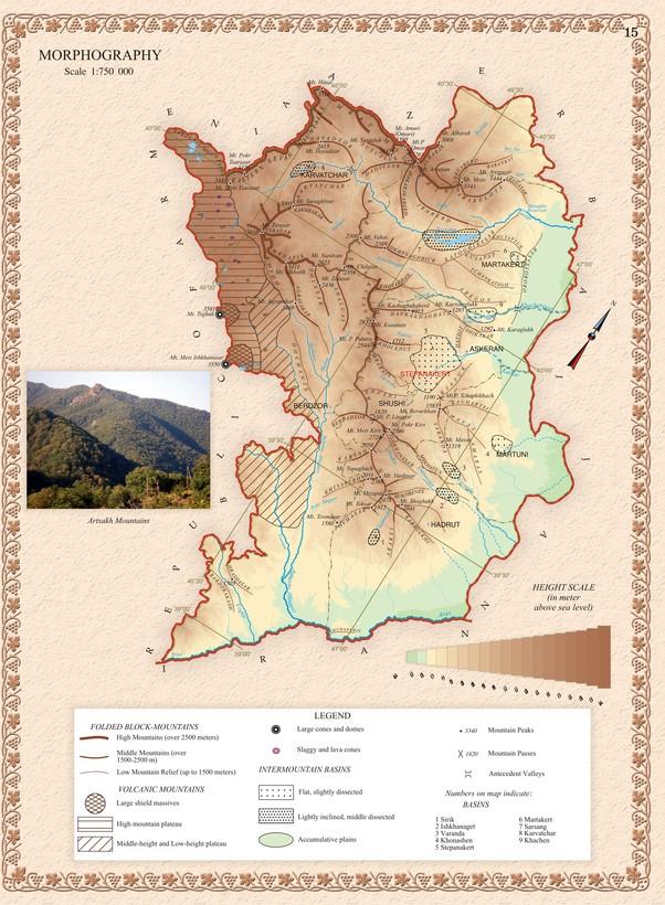 Karabakh Map Armenia mappery