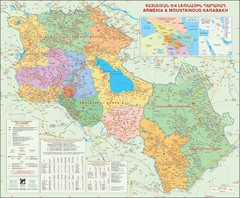 Karabakh & Armenia Map