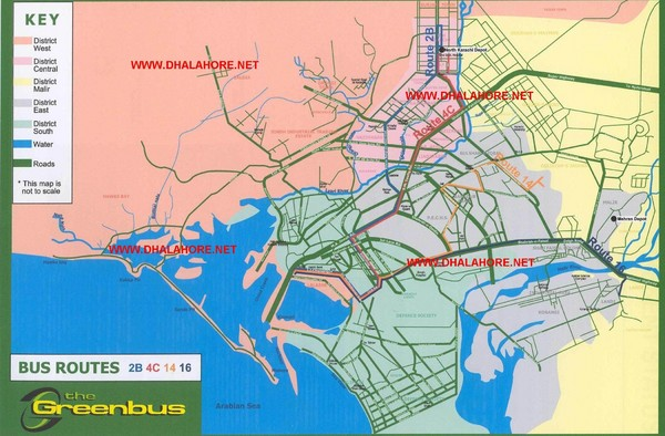 Karachi Bus Route Map