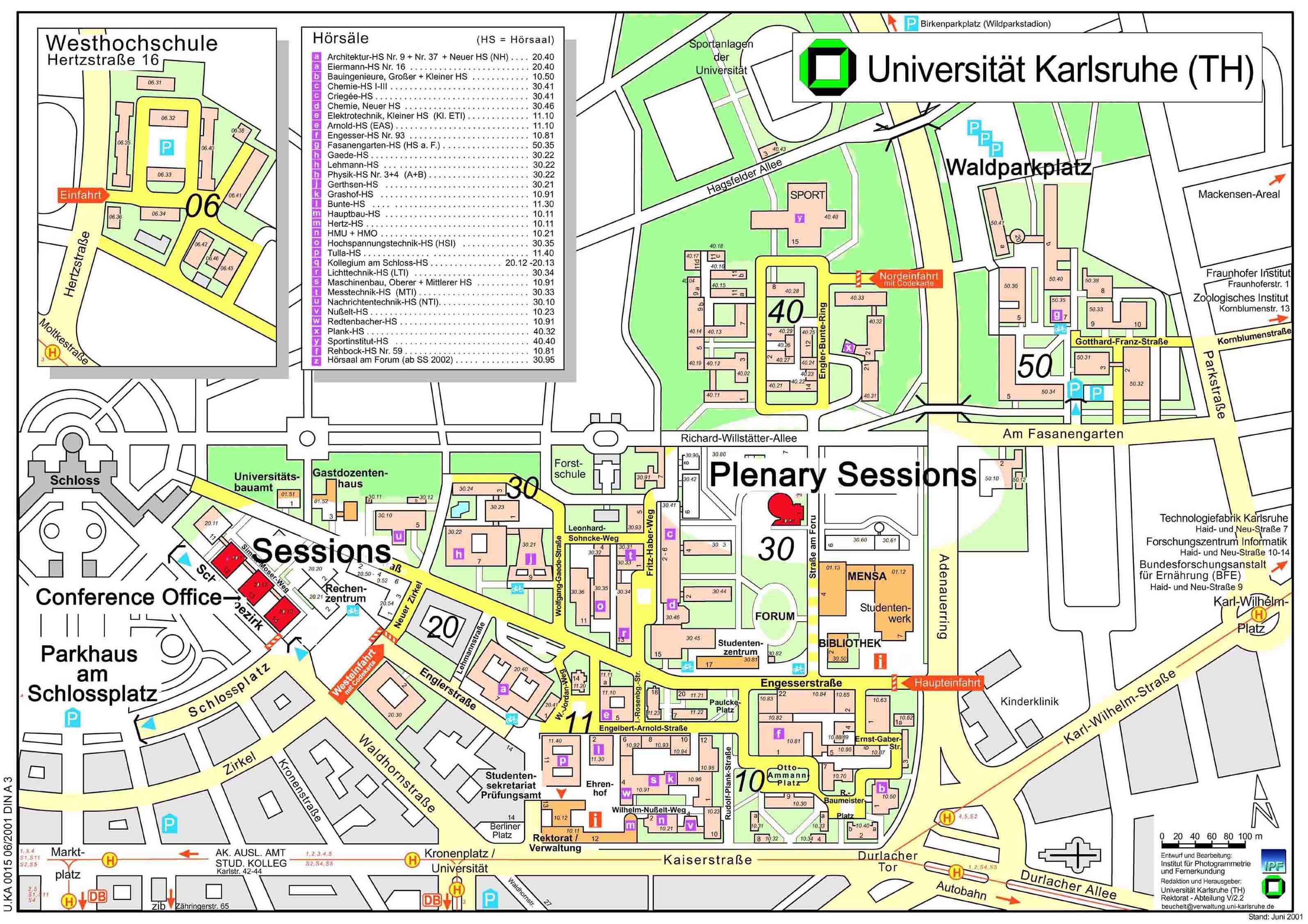 Karlsruhe University Campus Map Karlsruhe Germany mappery