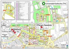 Karlsruhe University Campus Map