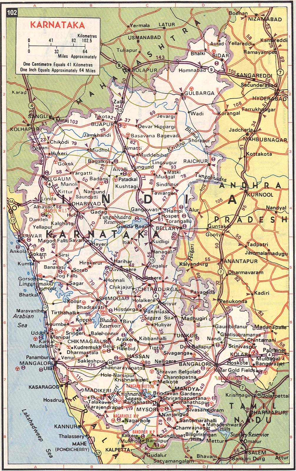 karnataka state road map Karnataka India Road Map Karnataka India Mappery karnataka state road map