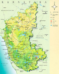 Karnataka Tourist Map