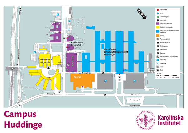 Karolinska Institute Karta Huddinge Campus Map