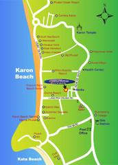 Karon Beach Tourist Map