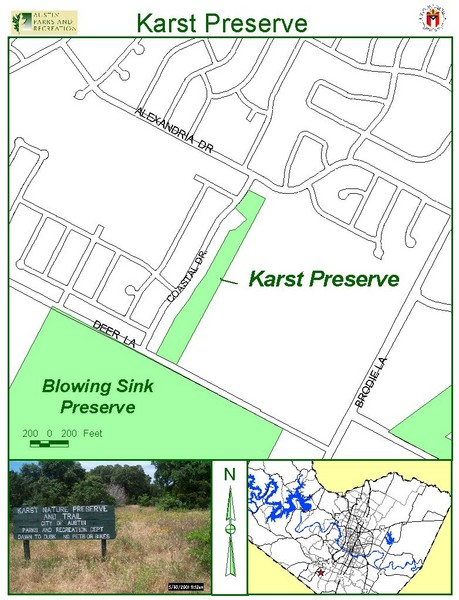 Karst Preserve Map