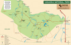 Kasanka National Park Map