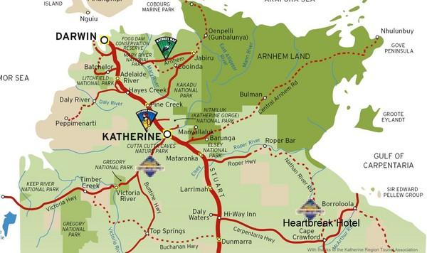 fullsize katherine australia tourism map