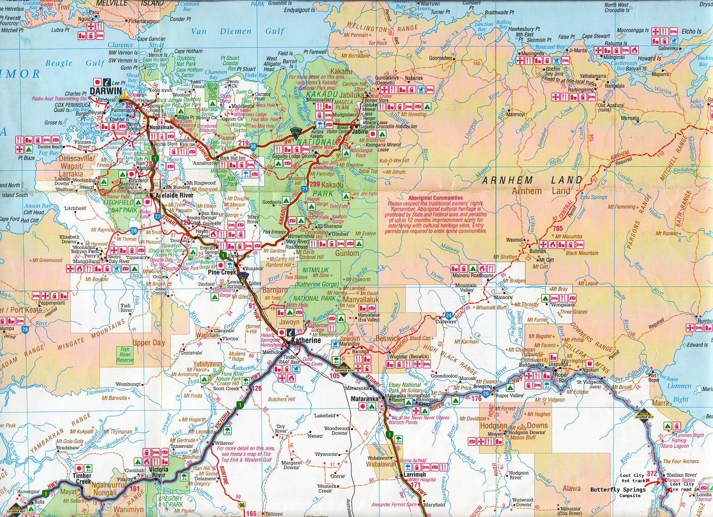 Katherine Region Australia Map Katherine Australia mappery