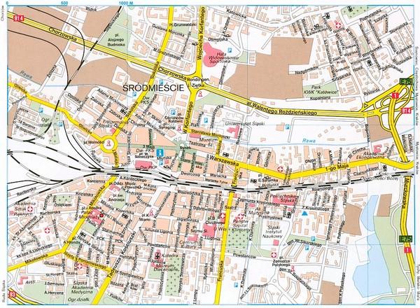 Tourist Map Krakow Katowice Tourist Map