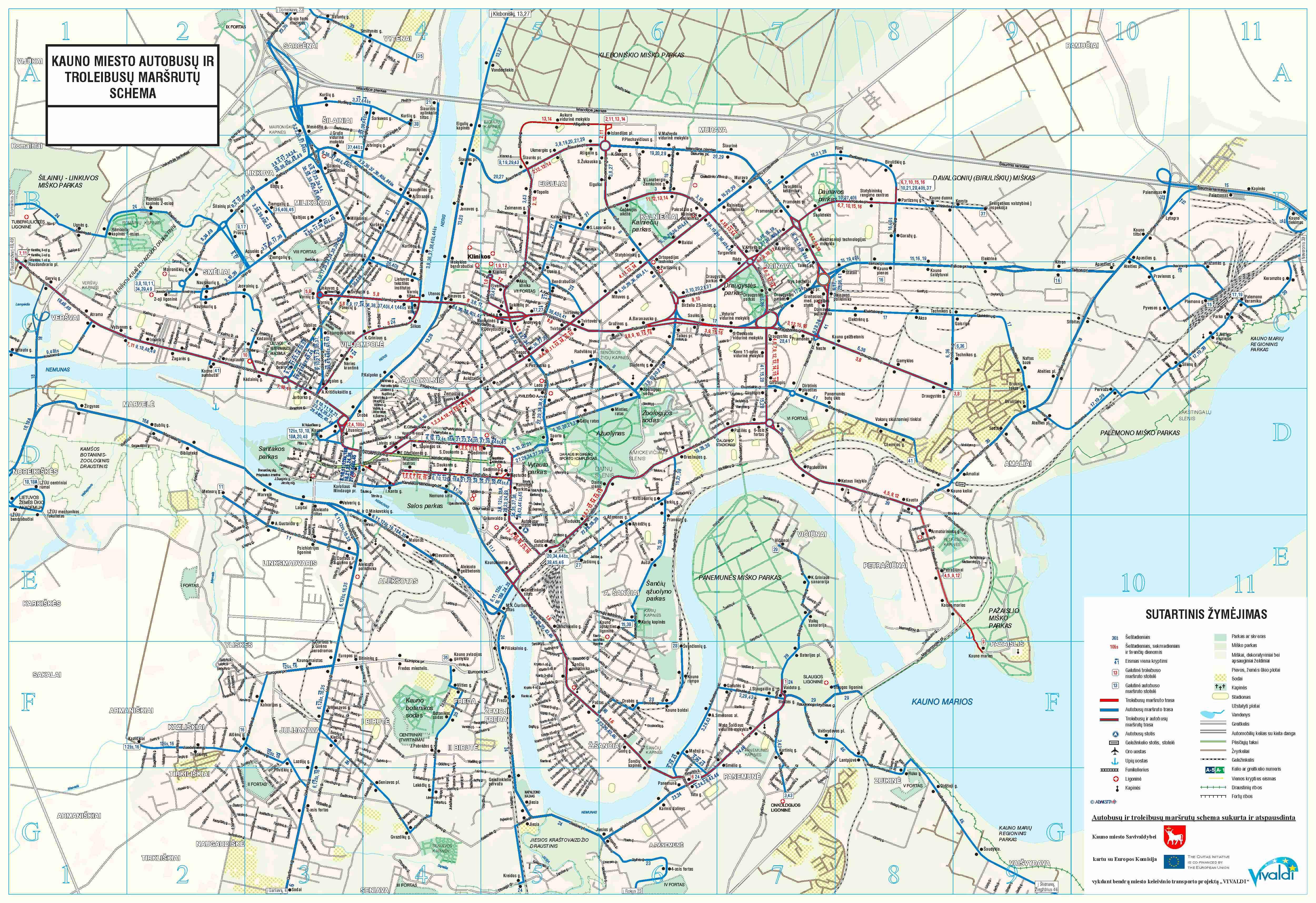 Kaunas City Map Kaunas Lithuania Mappery - Kaunas map