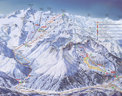 Kaunertal Ski Trail Map