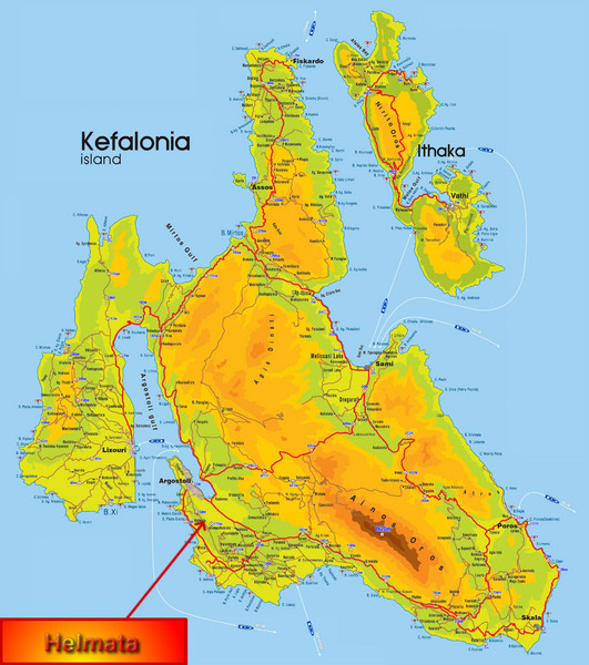 Kefalonia Map