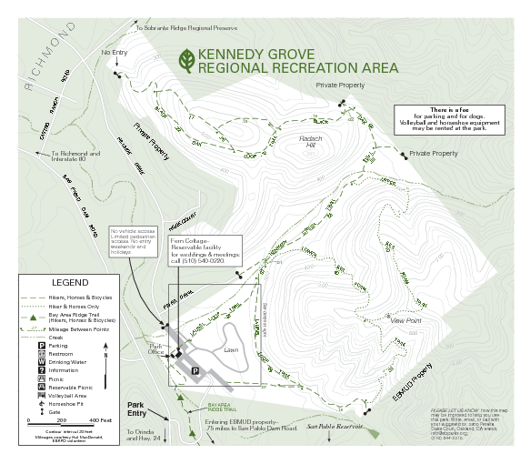 Kennedy Grove Recreation Area Trail Map