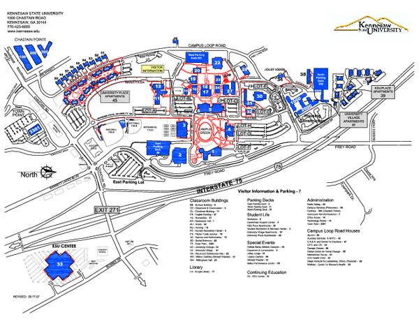 Kennesaw State University Map Kennesaw Georgia Mappery