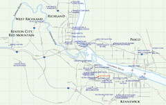 Kennewick Hotel Map