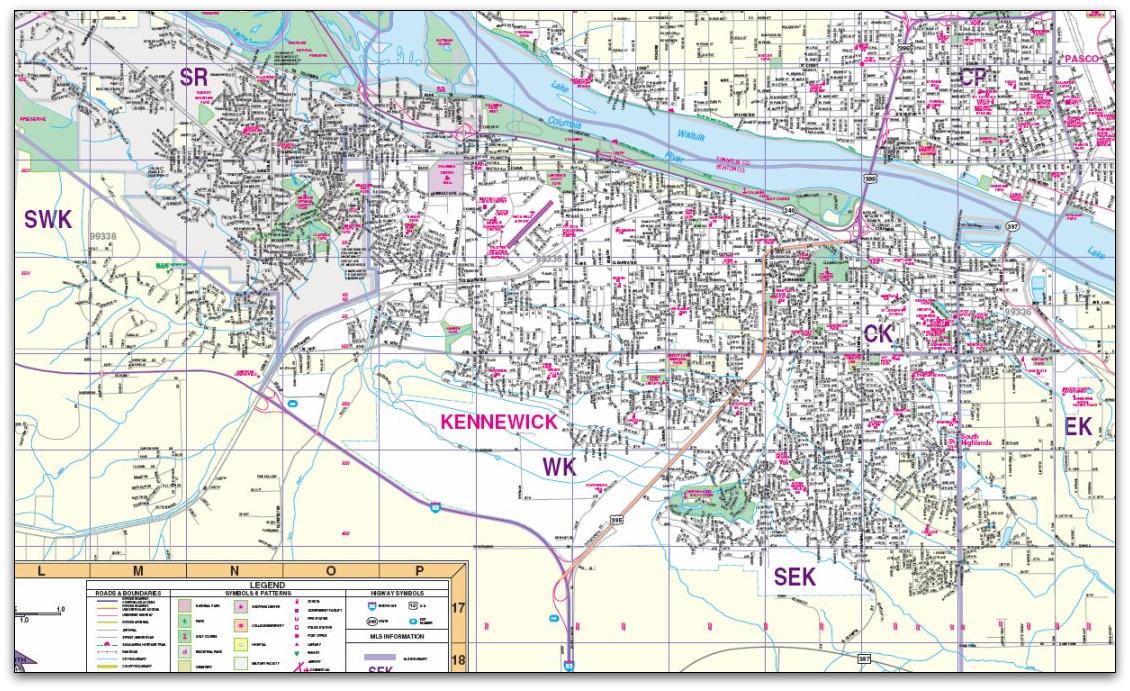 Kennewick Washington City Map Kennewick WA State Mappery - City map of washington state