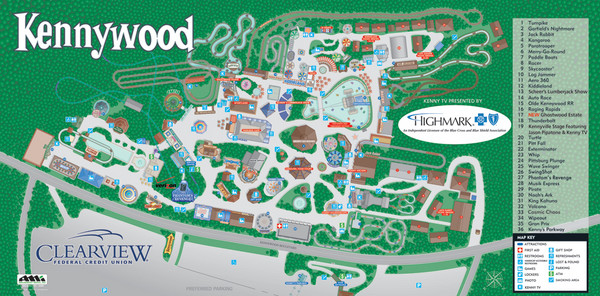 Kennywood Theme Park Map - kennywood Pennsylvania • mappery