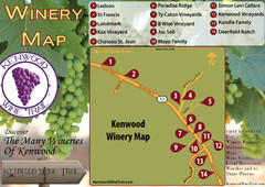 Kenwood Wine Tasting Map