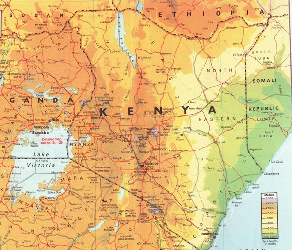 Kenya Map Kenya Mappery - Kenya map