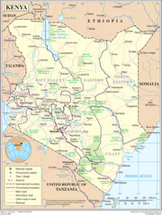 Kenya Overview Map