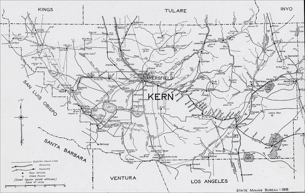 Kern County, 1916 Map