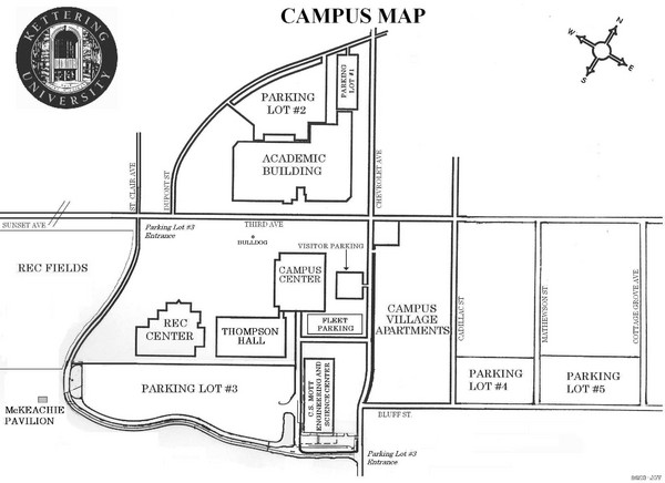 Kettering University Campus Map