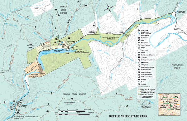 Kettle Creek State Park Map