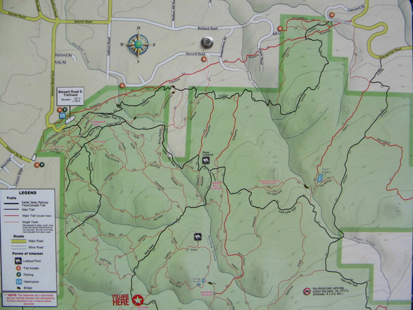 Kettle Valley Trails Map