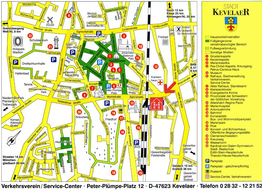 Kevelear Tourist Map Kevelear Germany mappery