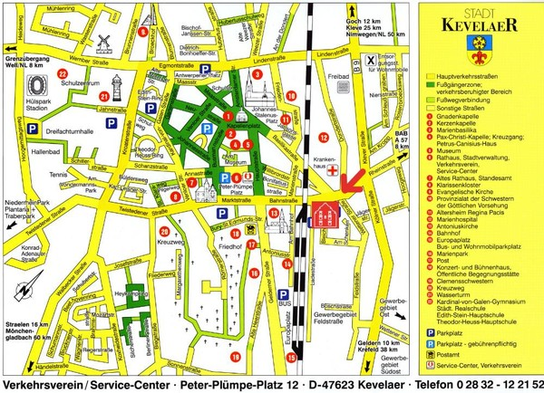 Kevelear Tourist Map