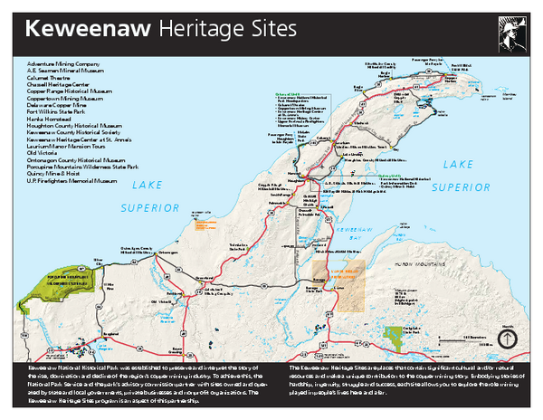 Keweenaw National Historical Park Official Map