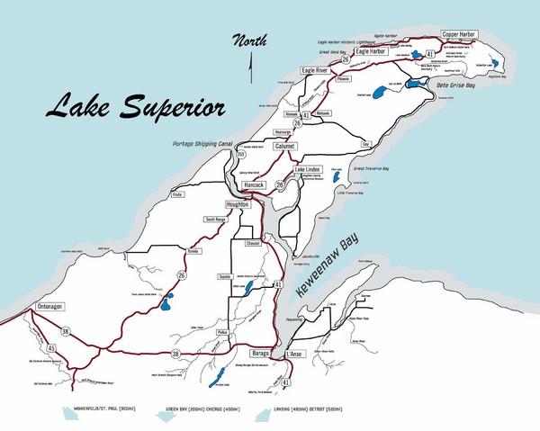 Portage Lake Michigan Map.Portage Lake Volcanic Series