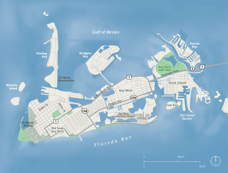 Key west map key west mappery gumiabroncs Image collections