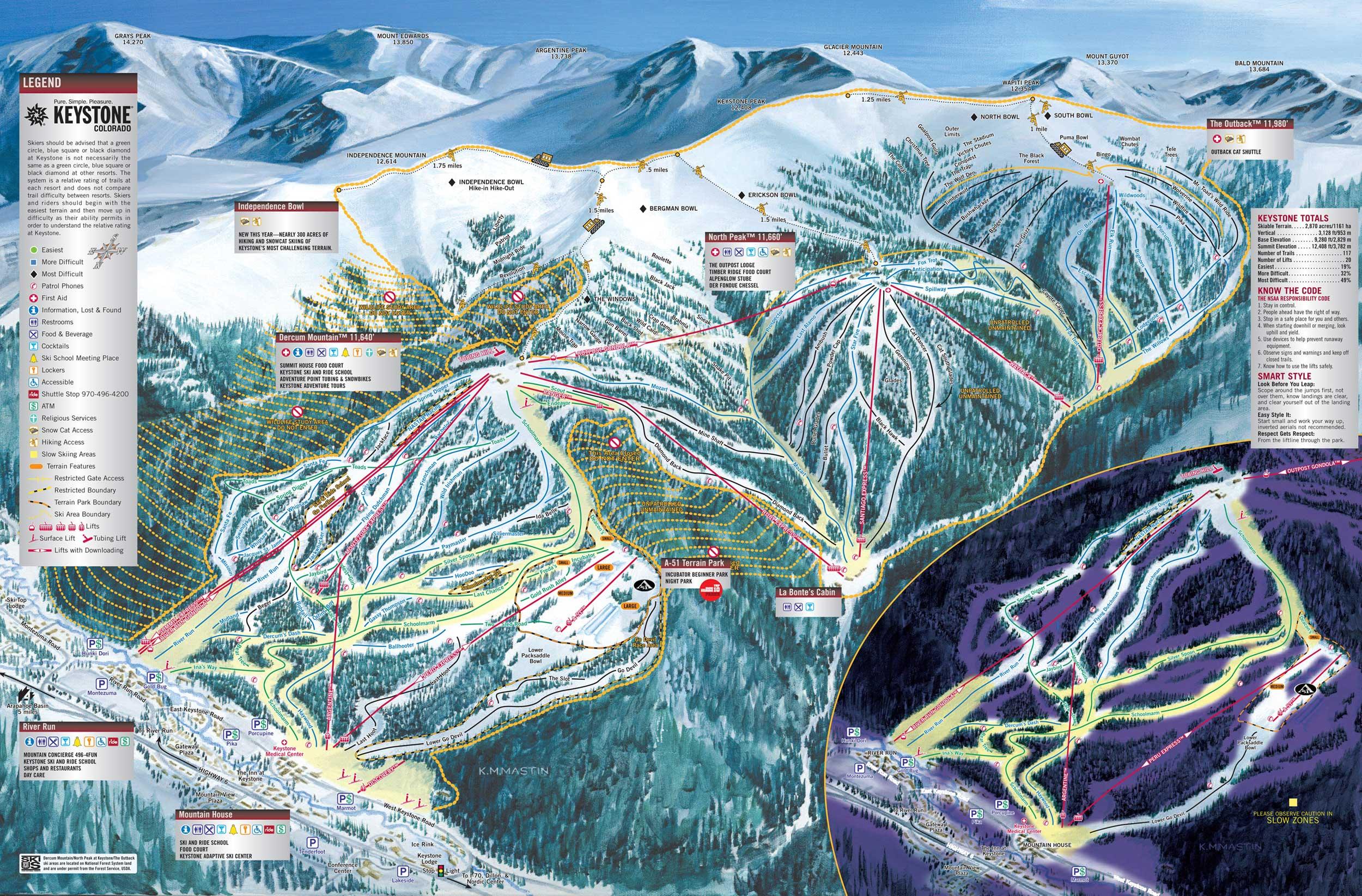Keystone Ski Trail Map 2006 07 Keystone Co 80435 Mappery