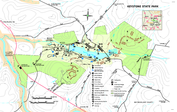 Keystone State Park Map
