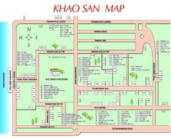 Khao San Tourist Map