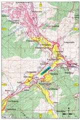 Khasadrapchu to Thimphu trail pt 2 Map