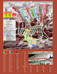 Kicking Horse Resort Ski Trail Map 2008-2009