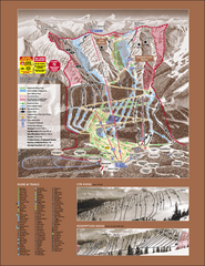 Kicking Horse Ski Trail Map 2007-08